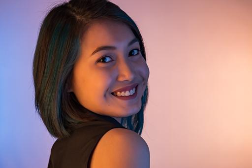 Nowie Valerio Headshot Colored Gelled Lights